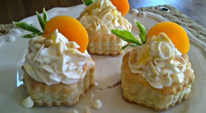 White Chocolate Apricot Puffs