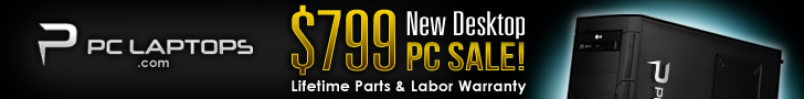PC Laptops - $799 New Desktop Sale