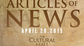 Articles of News/Week of April 20th