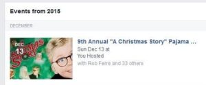 Facebook Invitation to A Christmas Story Party